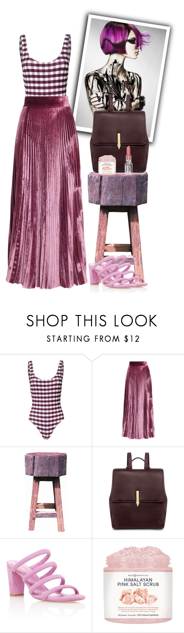 """""""Gingham + Pleats"""" by cherieaustin ❤ liked on Polyvore featuring Solid & Striped, LUISA BECCARIA, GroovyStuff, Karen Walker and Rodin"""