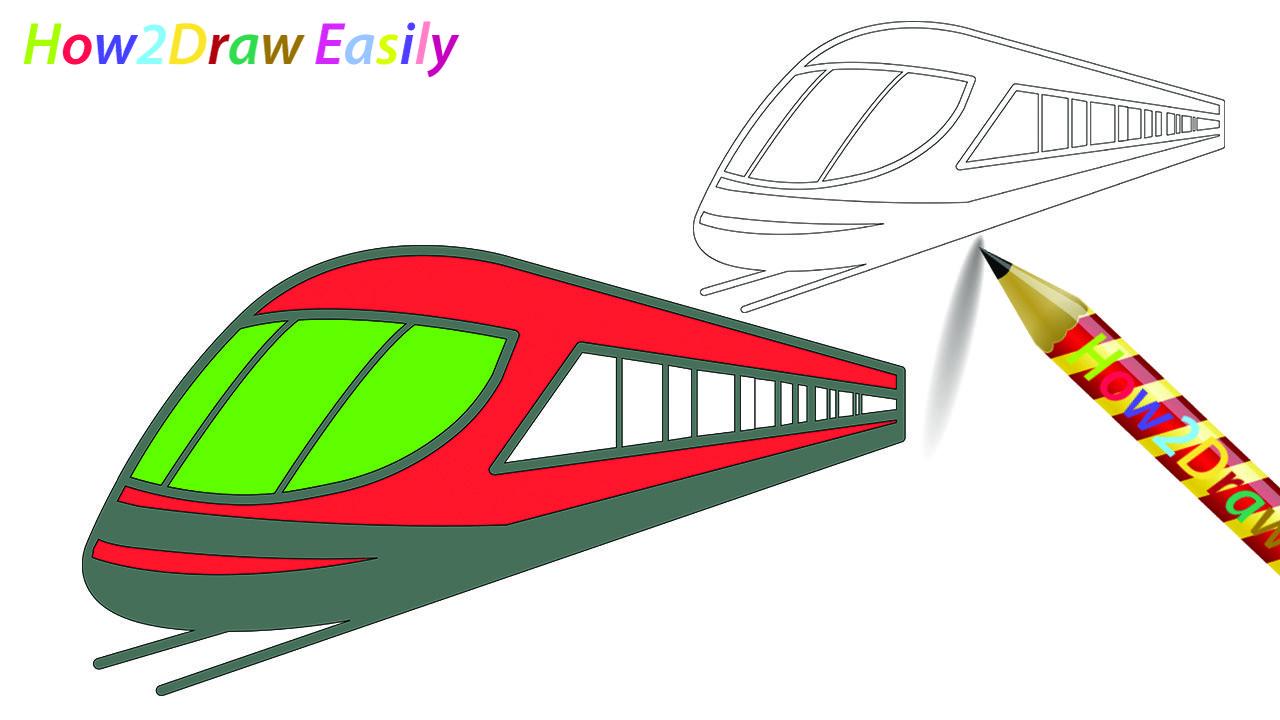 Bullet Train Drawing Coloring Train Drawings Coloring Drawinglessons Coloringpages Train Drawing Drawing For Kids Bullet Drawing