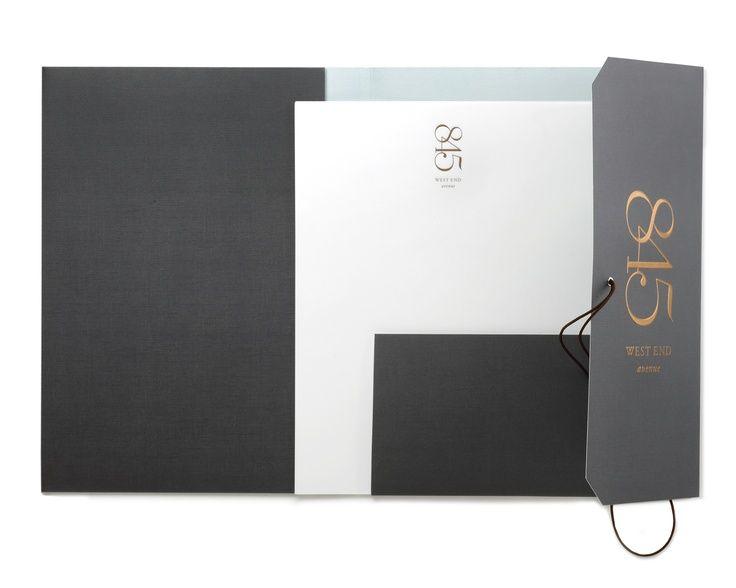 Print Packaging Inspiration: 845 West End Avenue Presentation Folder via  andpartnersny.com