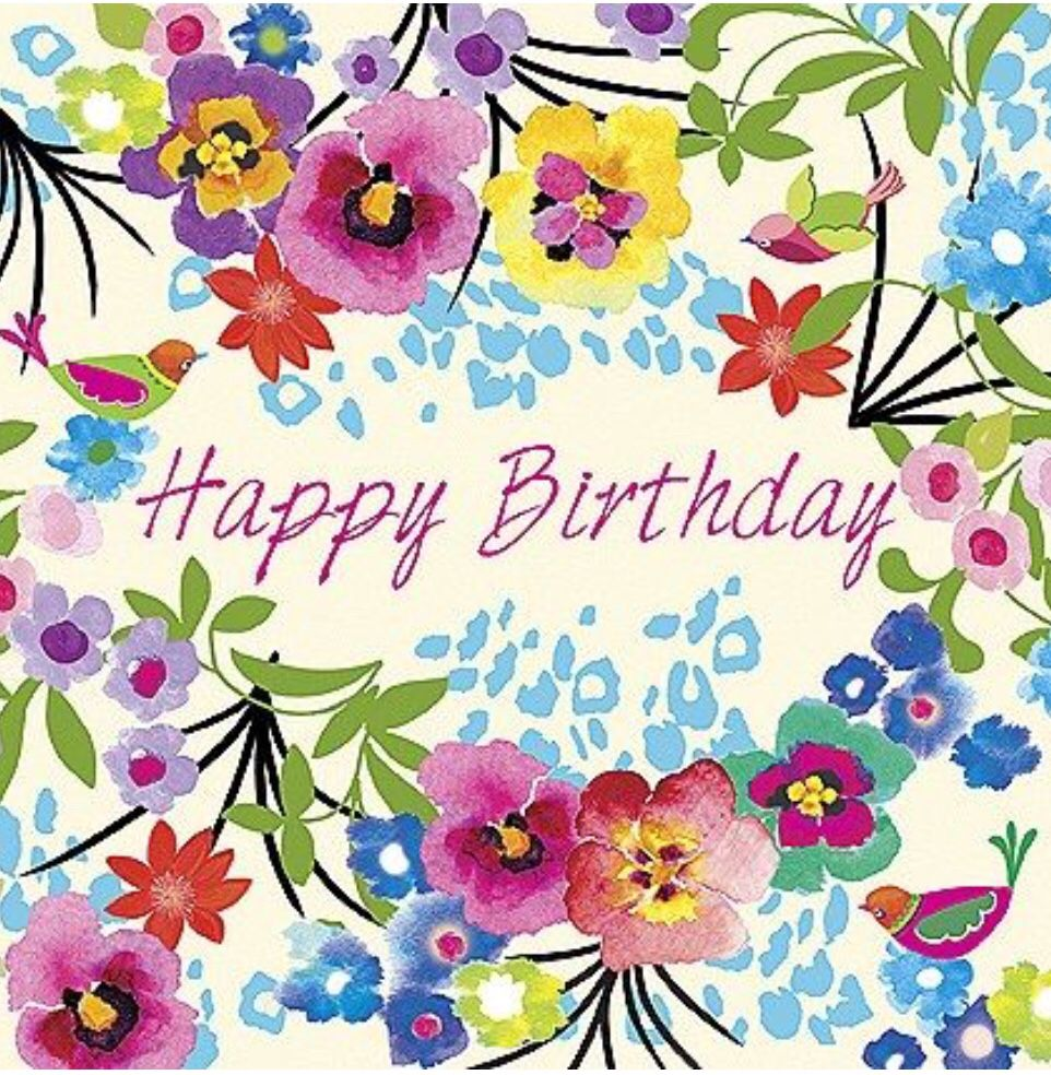 Pin by Grammie Newman on Birthday Happy birthday floral