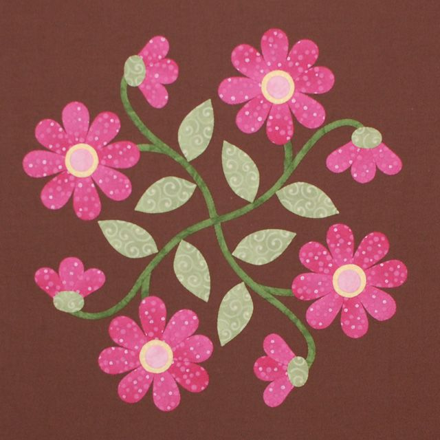 Great site with free appliqué patterns and tutorials. Love the colors in this one!