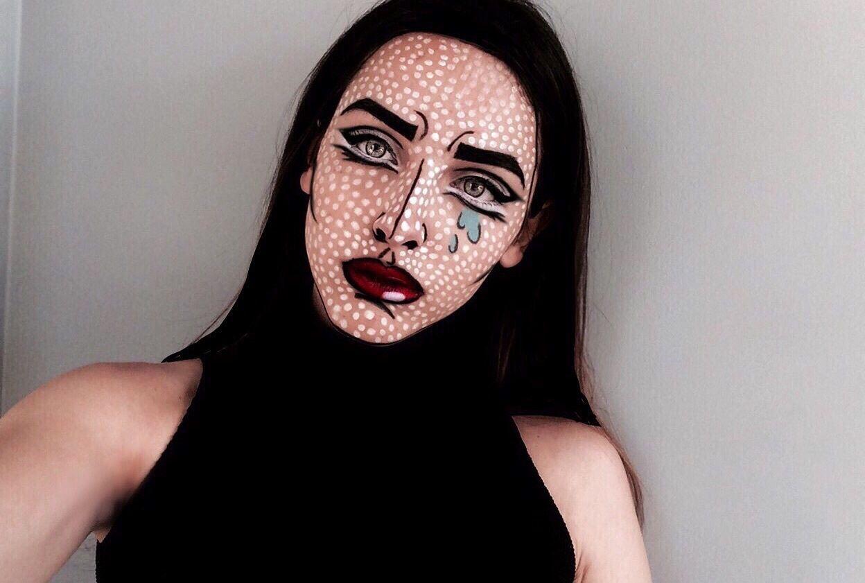 art makeup and lips image on We Heart It. Pop Art CostumeBat ...  sc 1 st  Pinterest & pinterest: ??caitlynslilac? | pop art makeup | Pinterest ...