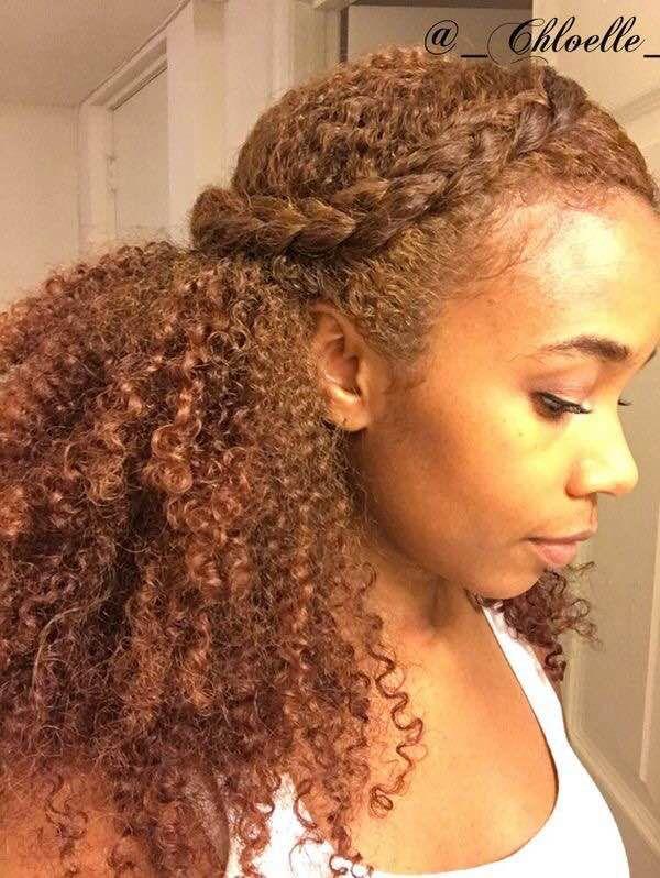 Pelo rizado afro largo