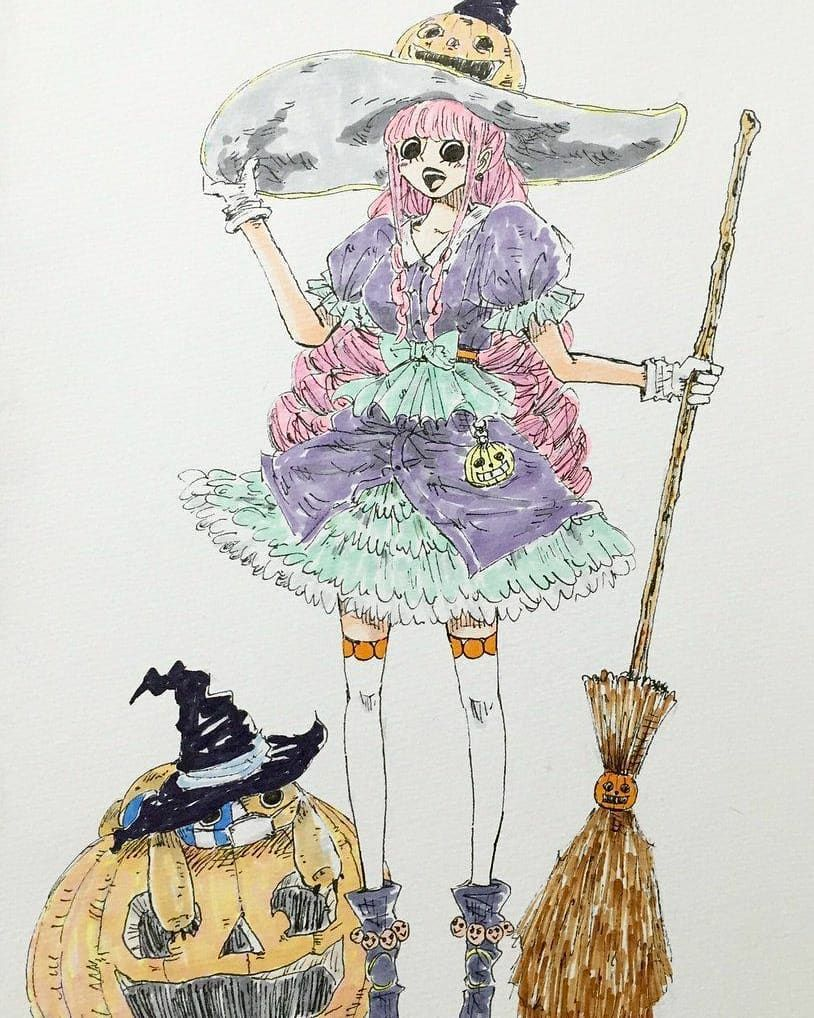 Happy Halloween! ペローナ, イラスト, アニメ