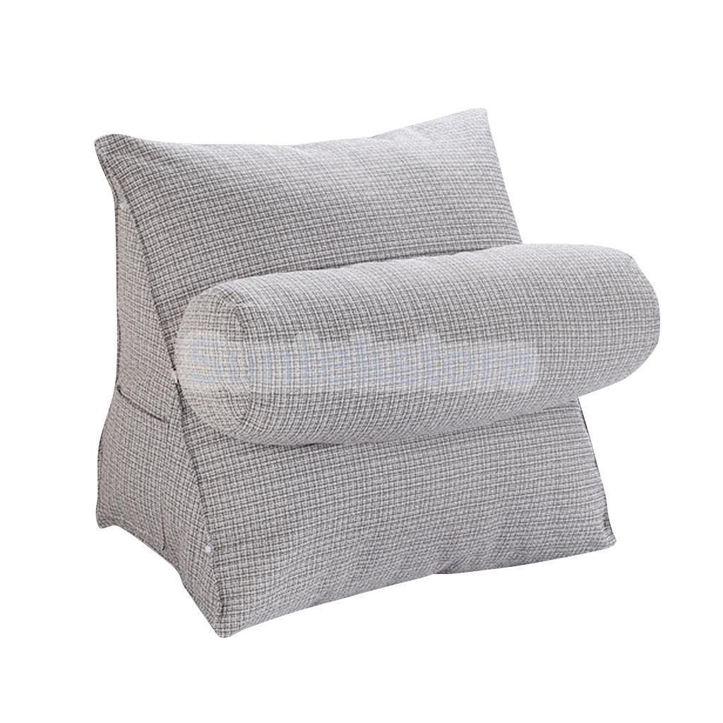 Thick stuffed seat cushion bolster waist rest support chair pad