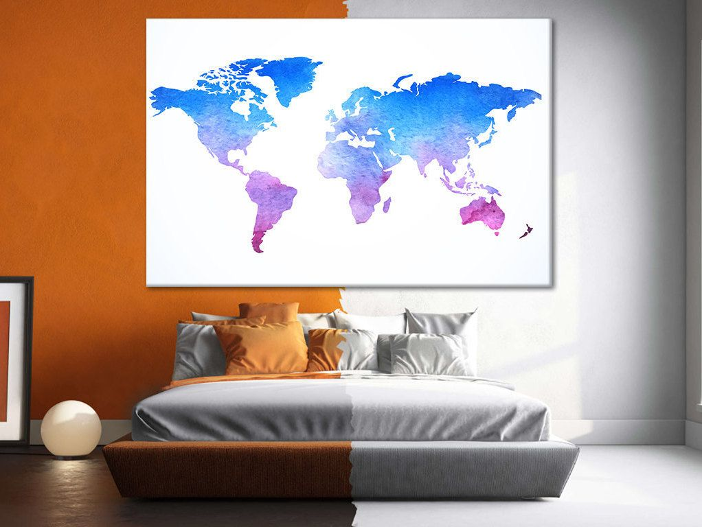 World map wall canvas large office print sets canvas map of the world map wall canvas large office print sets canvas map of the world world map wall art framed canvas panels map of the world detailed map gumiabroncs Choice Image