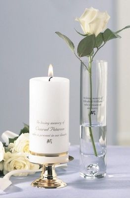 A Personalized Wedding Memorial Candle Can Be A Powerful And Emotional Component Of Your Wedding Ceremony Exclusively Weddings Carries Wedding Memorial