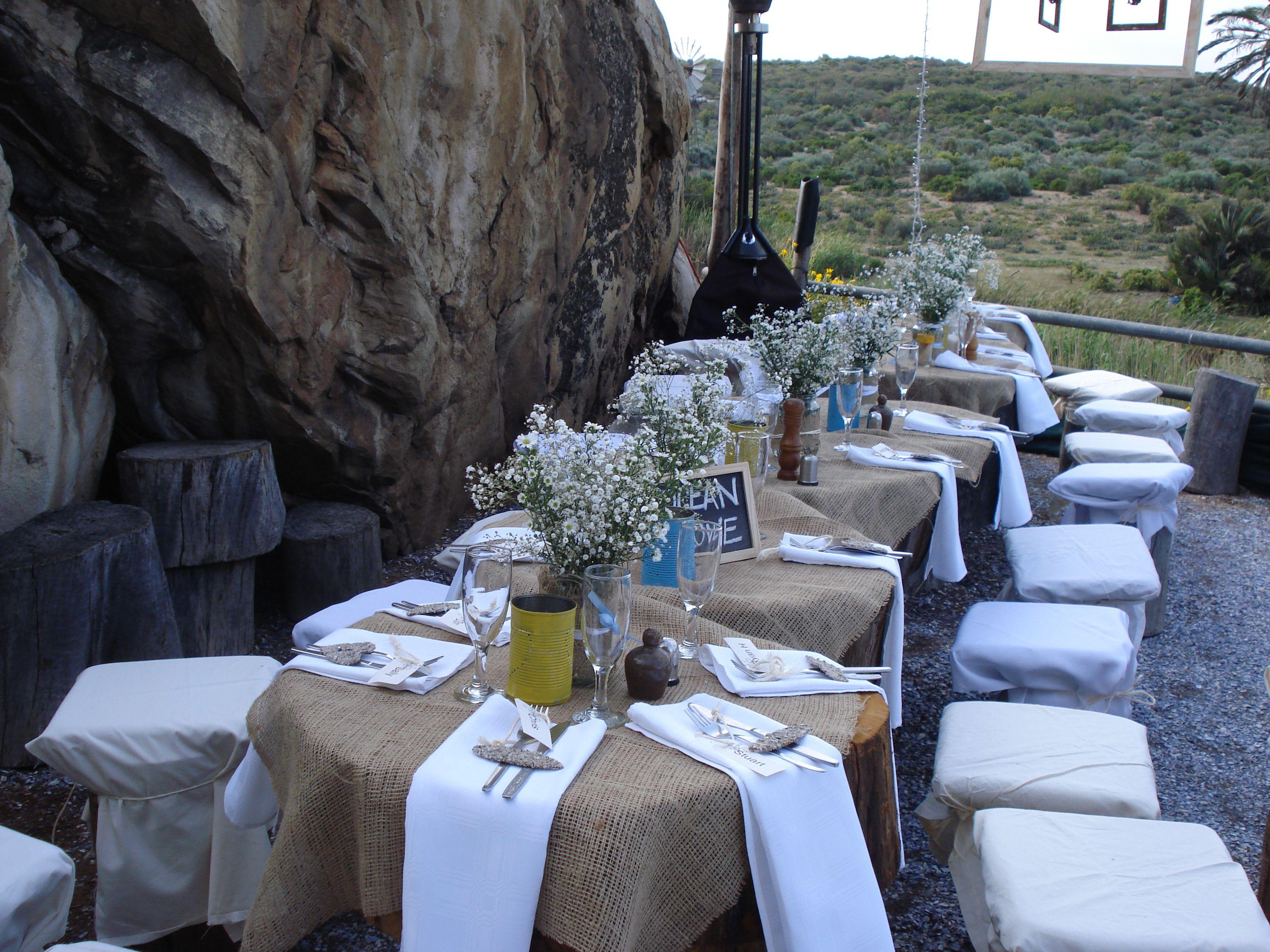#Wedding at the Bosduifklip Lambertsbay - Ocean Love table setting - country style wedding & Wedding at the Bosduifklip Lambertsbay - Ocean Love table setting ...