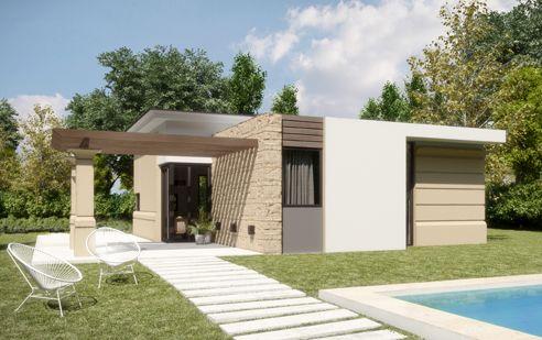 Proyecto Hausin Modelo 80 Casas cabañas, Casas y Modelos