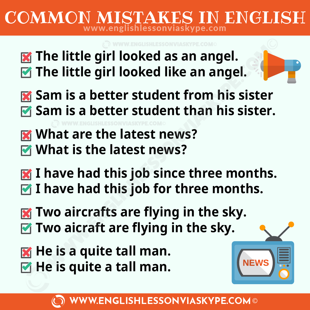 Common Mistakes In English And How To Avoid Them