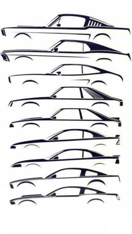 Evolution Of The Mustang Which One Is Your Favorite Carros