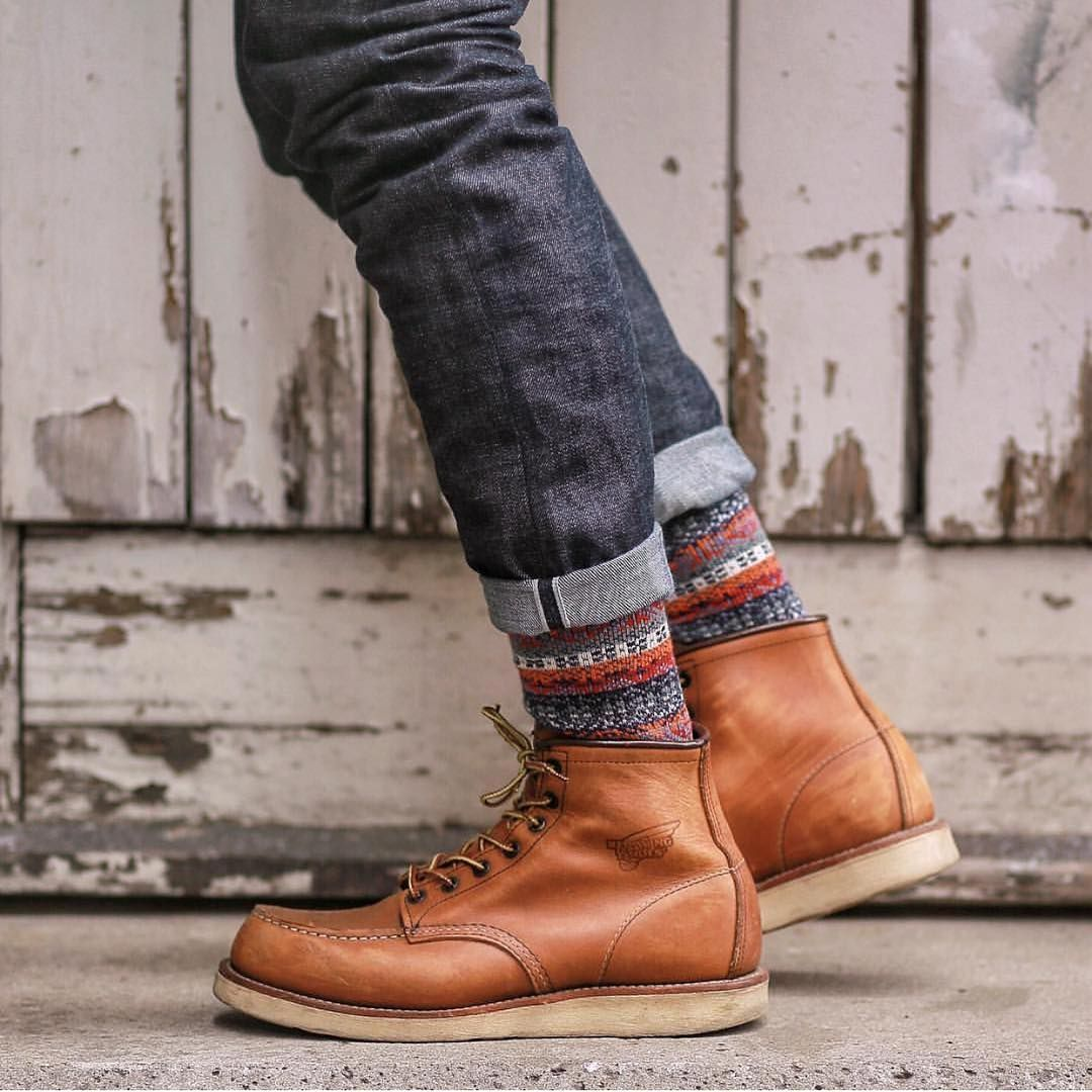 eeea3db1 Awesome pair of redwing heritage boots...showing off anonymousism japan  socks Follow @runnineverlong on Instagram for more inspiration #redwing ...
