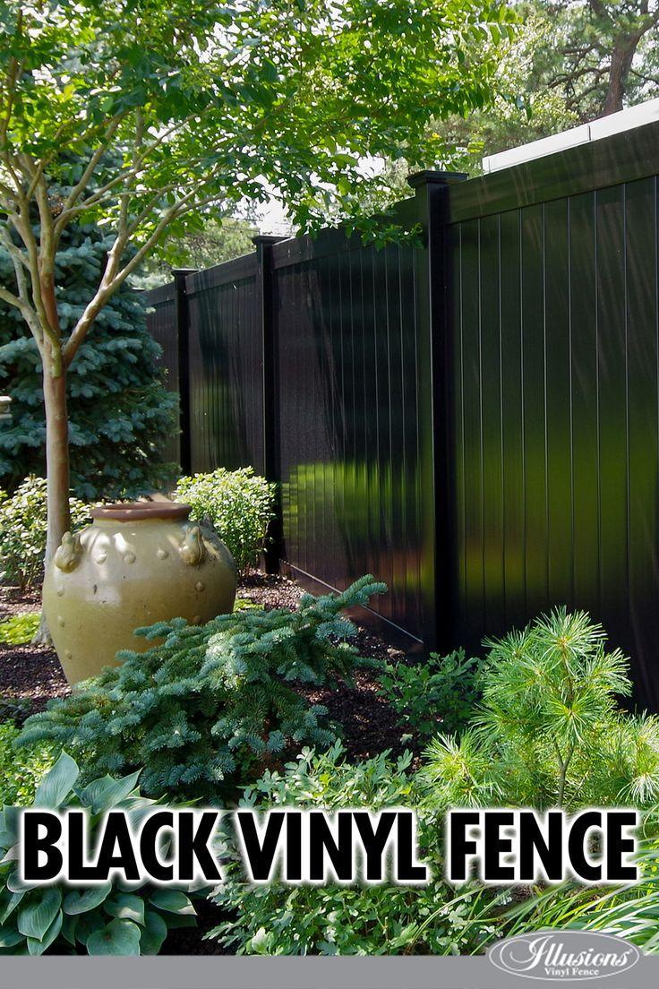 Illusions Pvc Vinyl Fence Photo Gallery Illusions Fence Vinyl Fence Black Garden Fence Backyard Fences