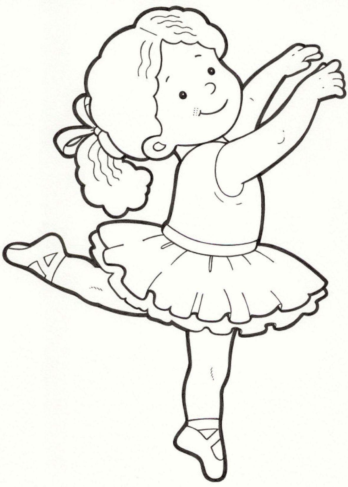 ballerina Desenhos infantis para pintar, Pintura em