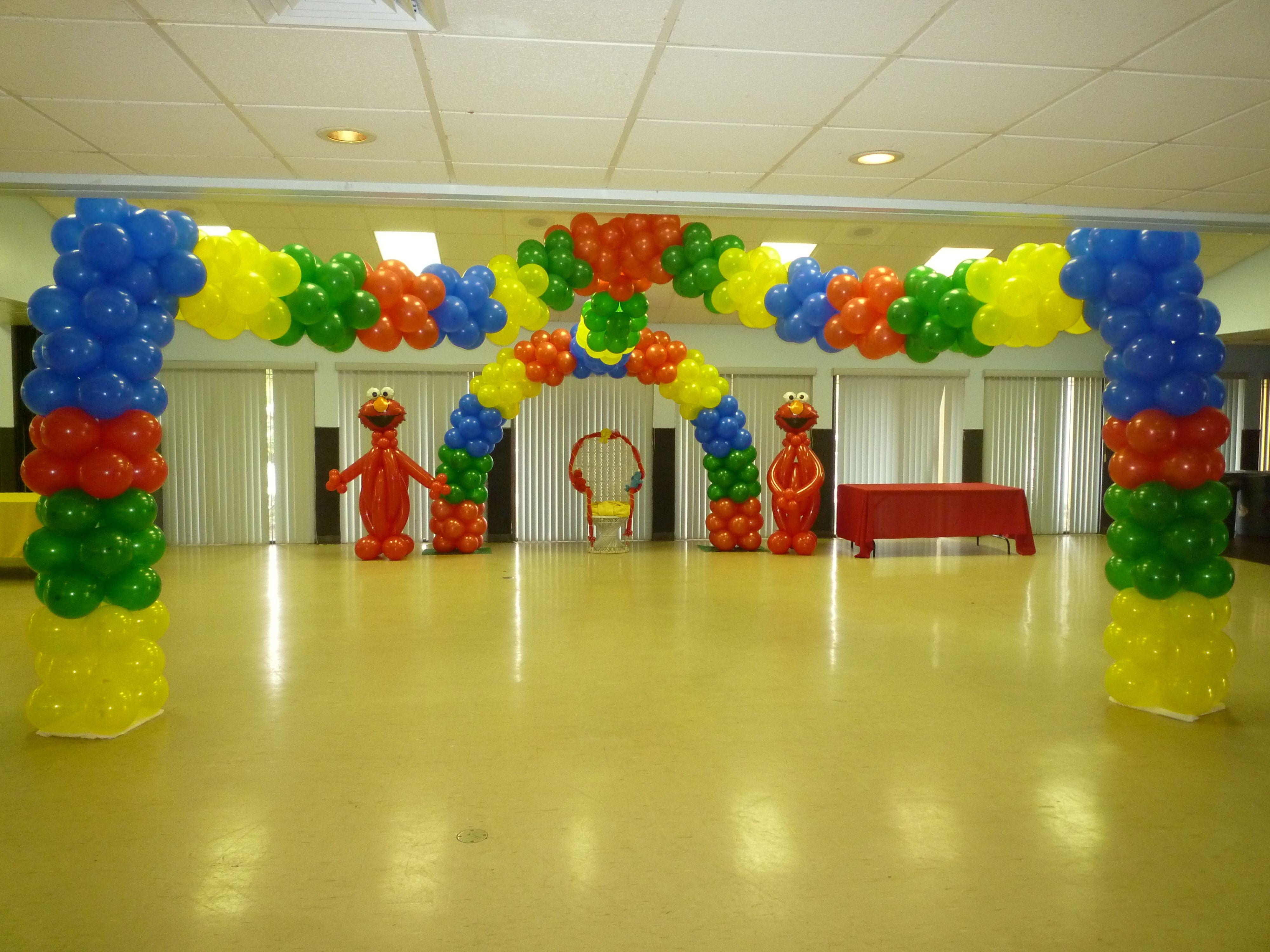 Elmo theme baby shower Baby Shower indoor decoration