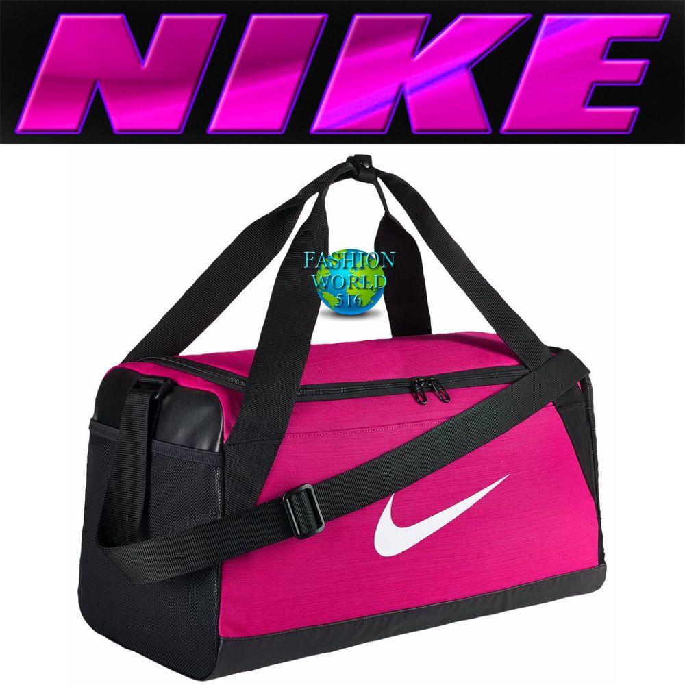 Nike Brasilia Small Duffel Bag BA5335 Rush Pink Black White Gym Bag Training   fashion  clothing  shoes  accessories  unisexclothingshoesaccs ... 69c466ca76dc6