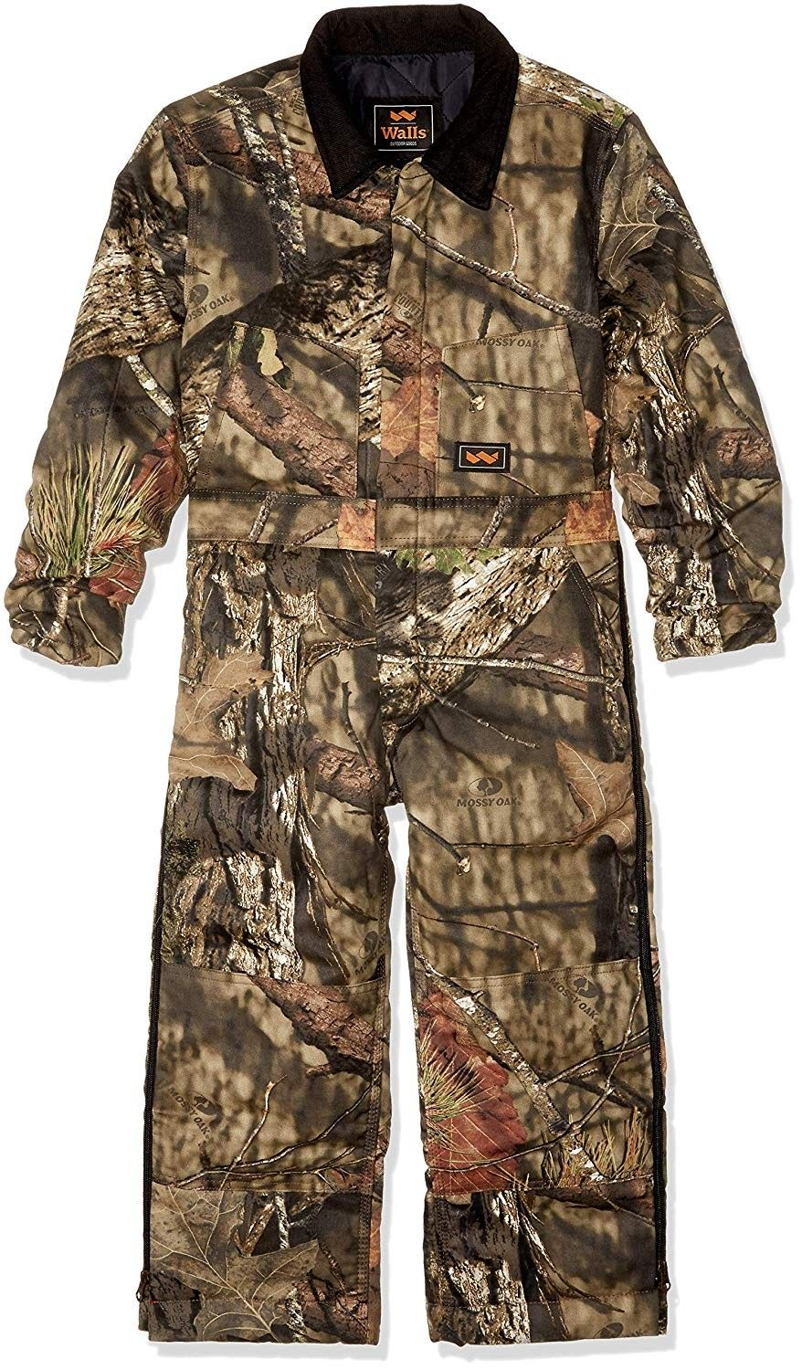 boys camo insulated coverall mossy oak country on walls camo coveralls insulated id=30327