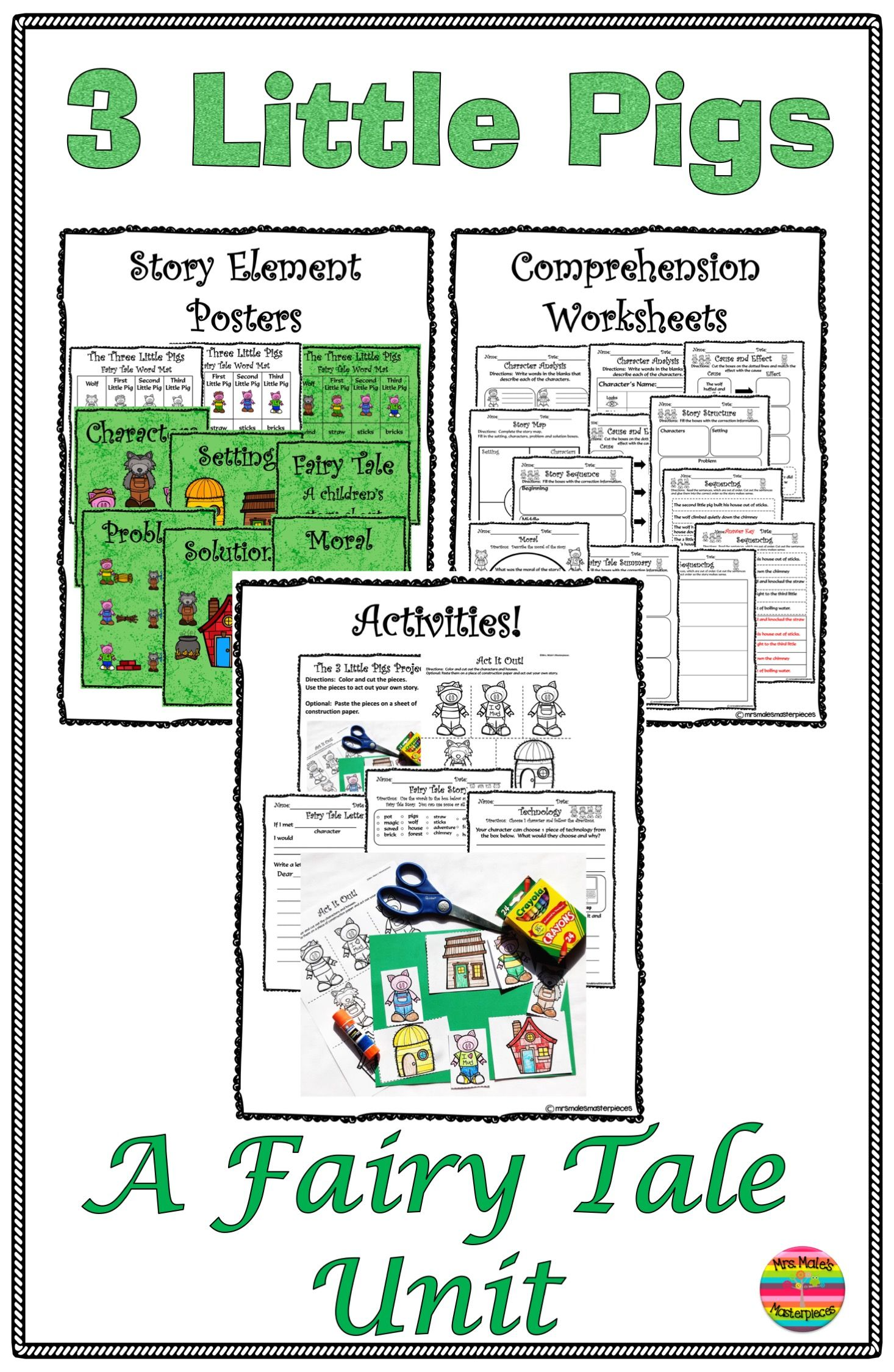 The Three Little Pigs Activities And Comprehension