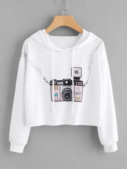 334b2a6a 3D camera style fashion crop sweater | poleras | Ropa tumblr, Ropa ...