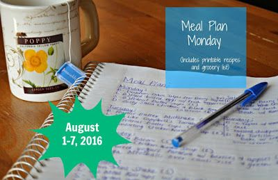 Darcie's Dishes: Meal Plan Monday: 8/1-8/7/16 ~ A one week meal plan that covers all meals, snacks and drinks. This meal plan is FREE, printable and 100% Trim Healthy Mama compliant.
