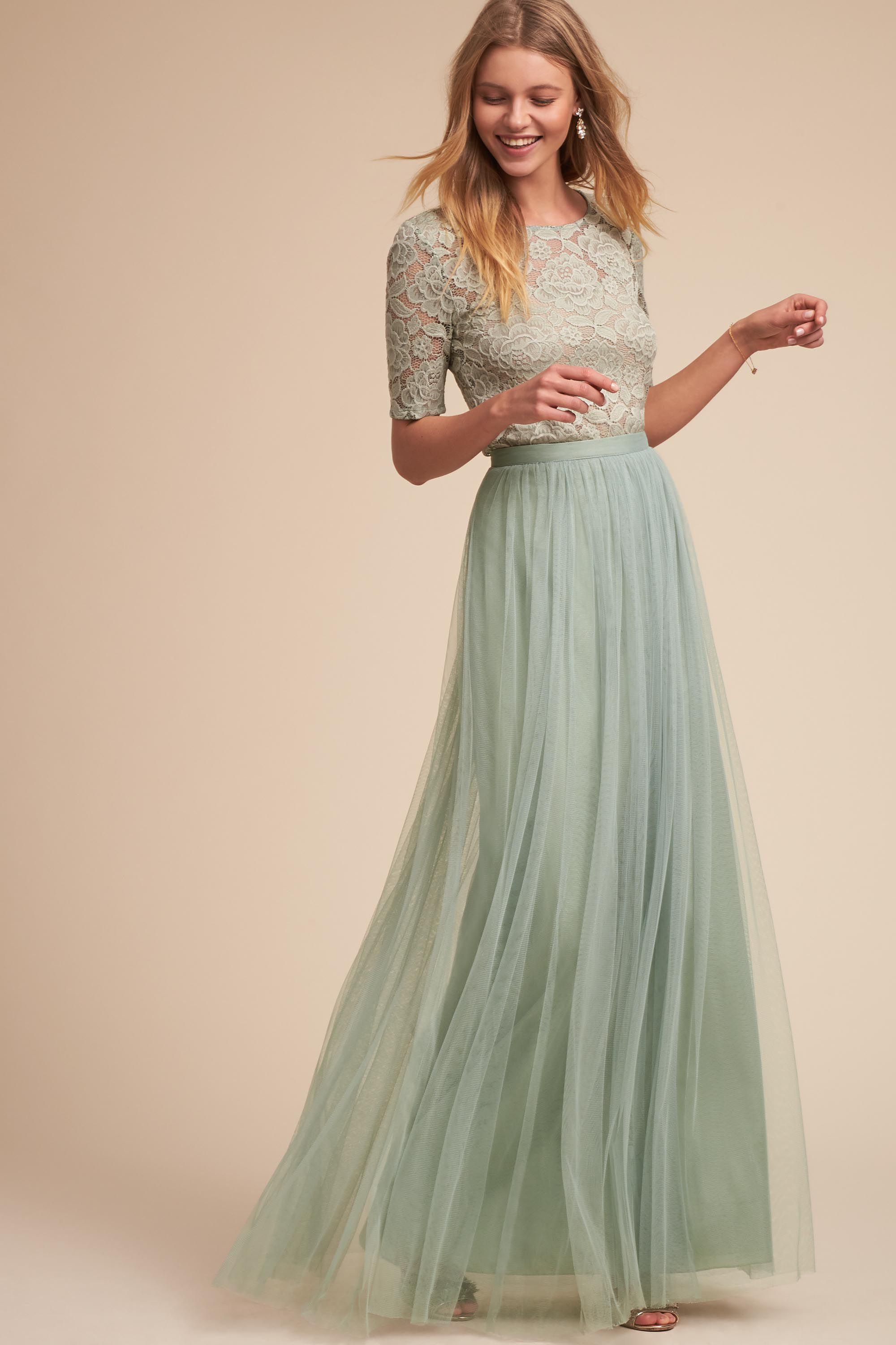 Courthouse wedding dresses under $100  Jive Top u Louise Tulle Skirt from BHLDN  rings  Pinterest