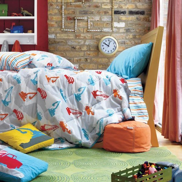 Kids room construction zone bedding kids bedding teen sets for boys girl toddler boy childrens - Toddler beds for boys ...