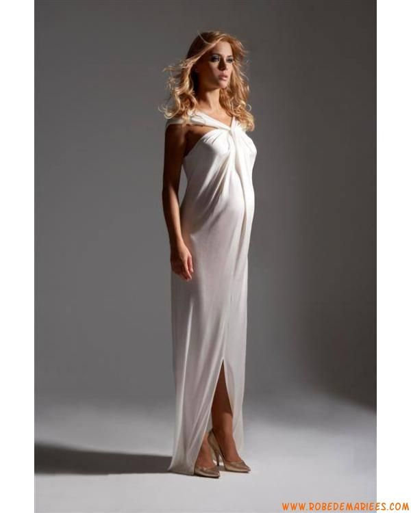 Robe pour femme enceinte avec bretelles en soie robe de mariée enceinte