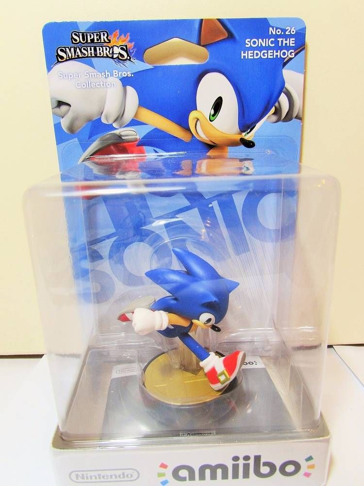 Nintendo Amiibo Super Smash Bros No 26 Sonic The Hedgehog Brand New In 2021 Amiibo Nintendo Amiibo Smash Bros