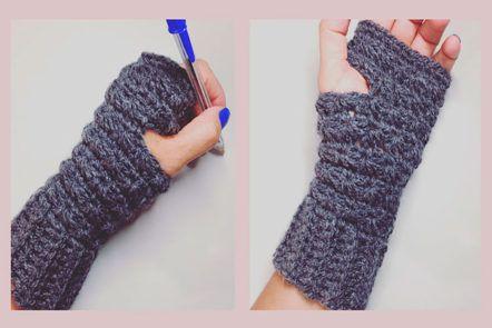 mitones punto estrella crochet | cositas por hacer | Pinterest ...