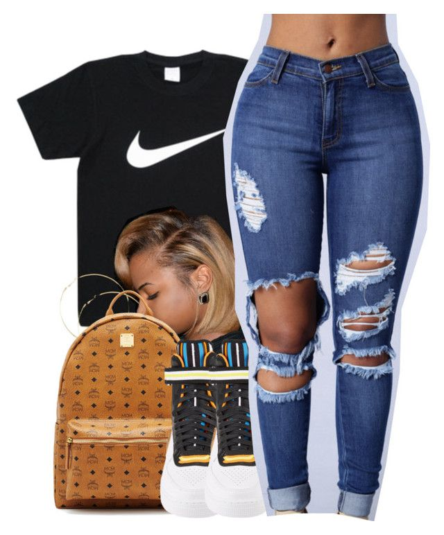 """"""""""" by yngshorty ❤ liked on Polyvore featuring MCM and NIKE"""