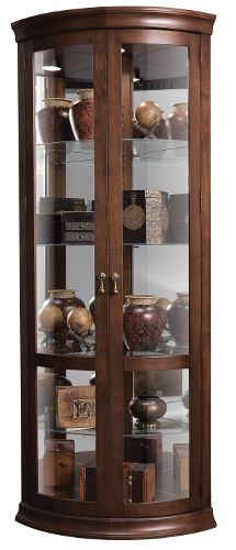 This Is A Corner Curio Cabinet Hampton Cherry Finish On Select Hardwoods And Veneers With Light Distressing Gl Mirrored Back
