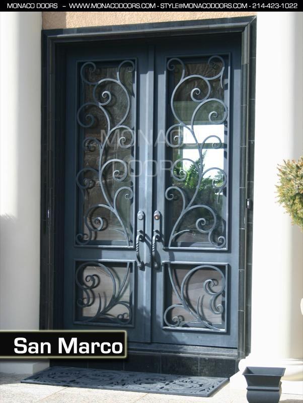 Monaco Doors Name: San Marco Finish: Satin Black Glass: Clear Size ...