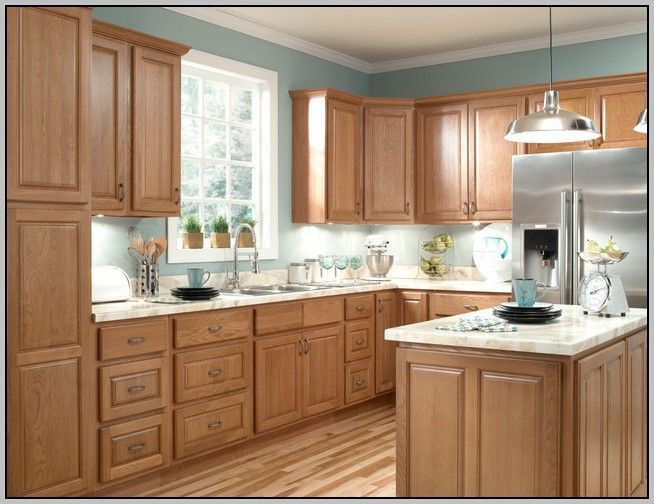 Kitchen Paint Colors Light Brown Cabinets Kotiin Pinterest - Light brown kitchen cabinets wall color
