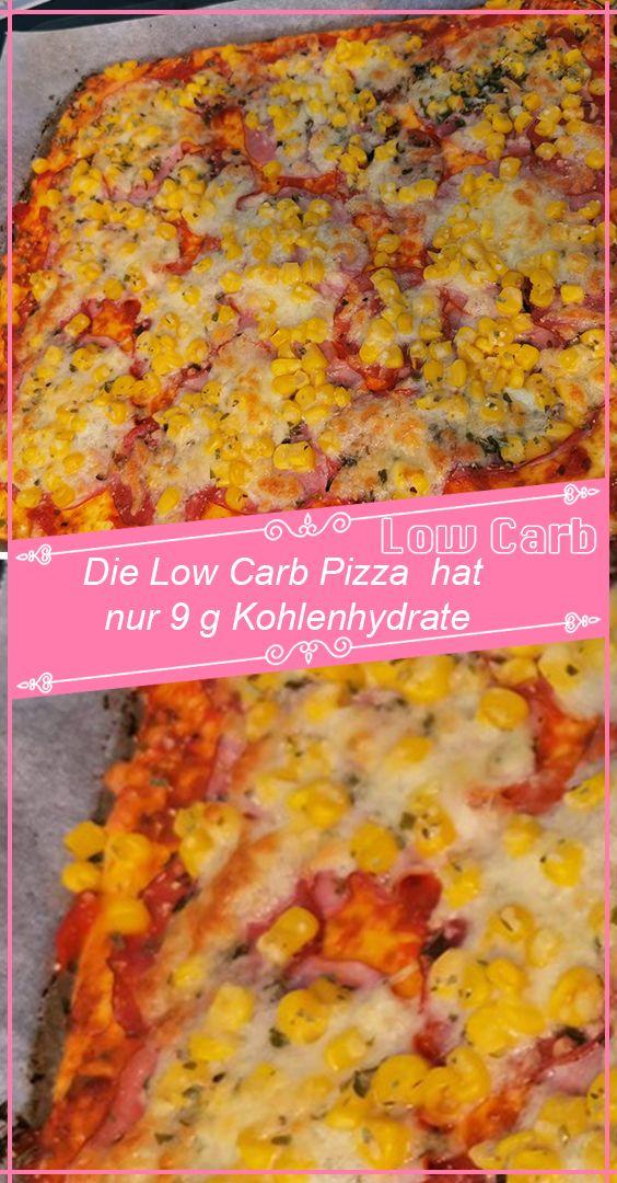 Die Low Carb Pizza hat nur 9 g Kohlenhydrate #pizzateig