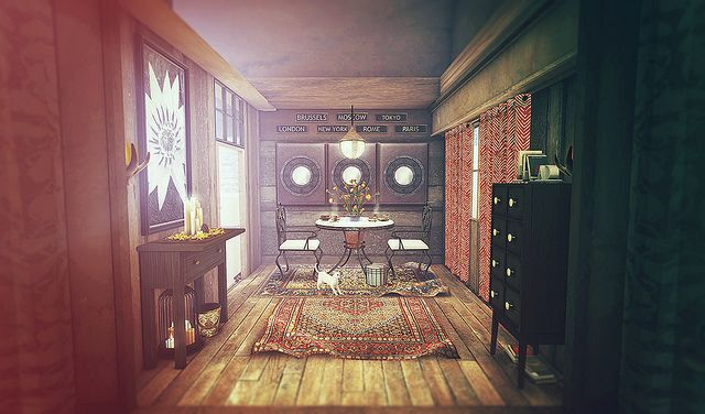 Second Life Interior Design Scene Featuring Heart Homes