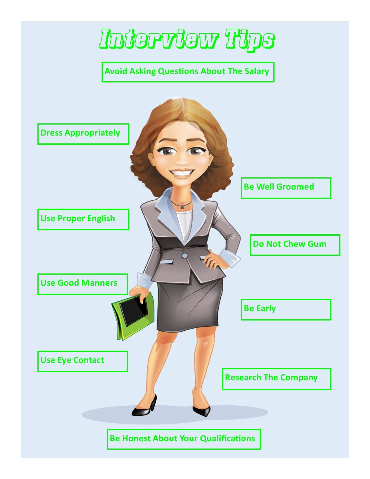 job interview presentation handouts >>> continue with the details, Powerpoint templates