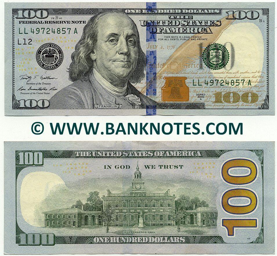 United States Of America 100 Dollars
