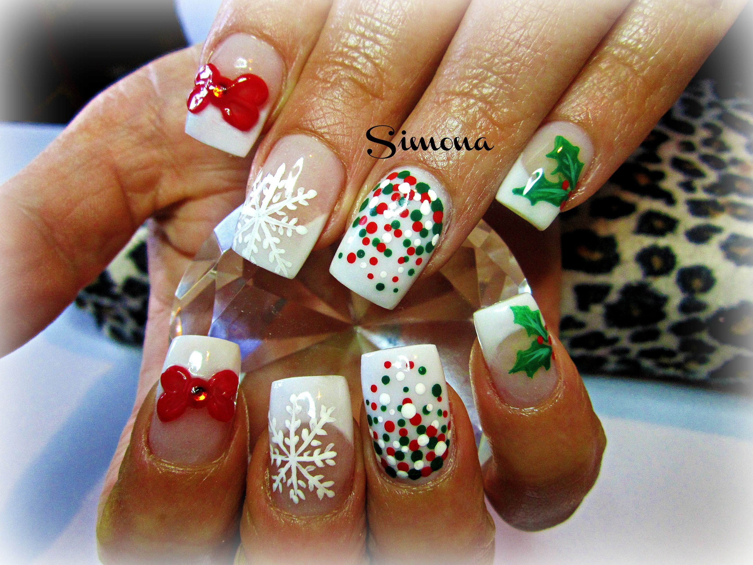 Simple Christmas Nails | Nail Designs | Pinterest | Simple christmas ...
