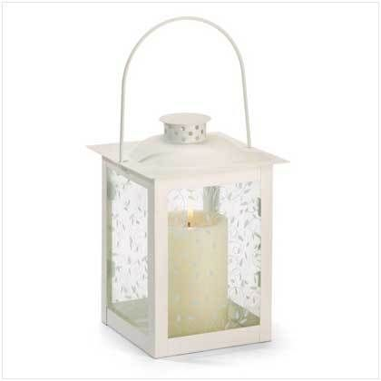 12 Off White Metal And Glass Lanterns For Wedding Centerpieces Affordable Elegance Bridal Glass Candle Lantern White Lanterns White Candle Holders