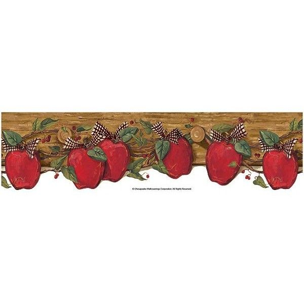 Gentil Apples On Coat Wallpaper Border