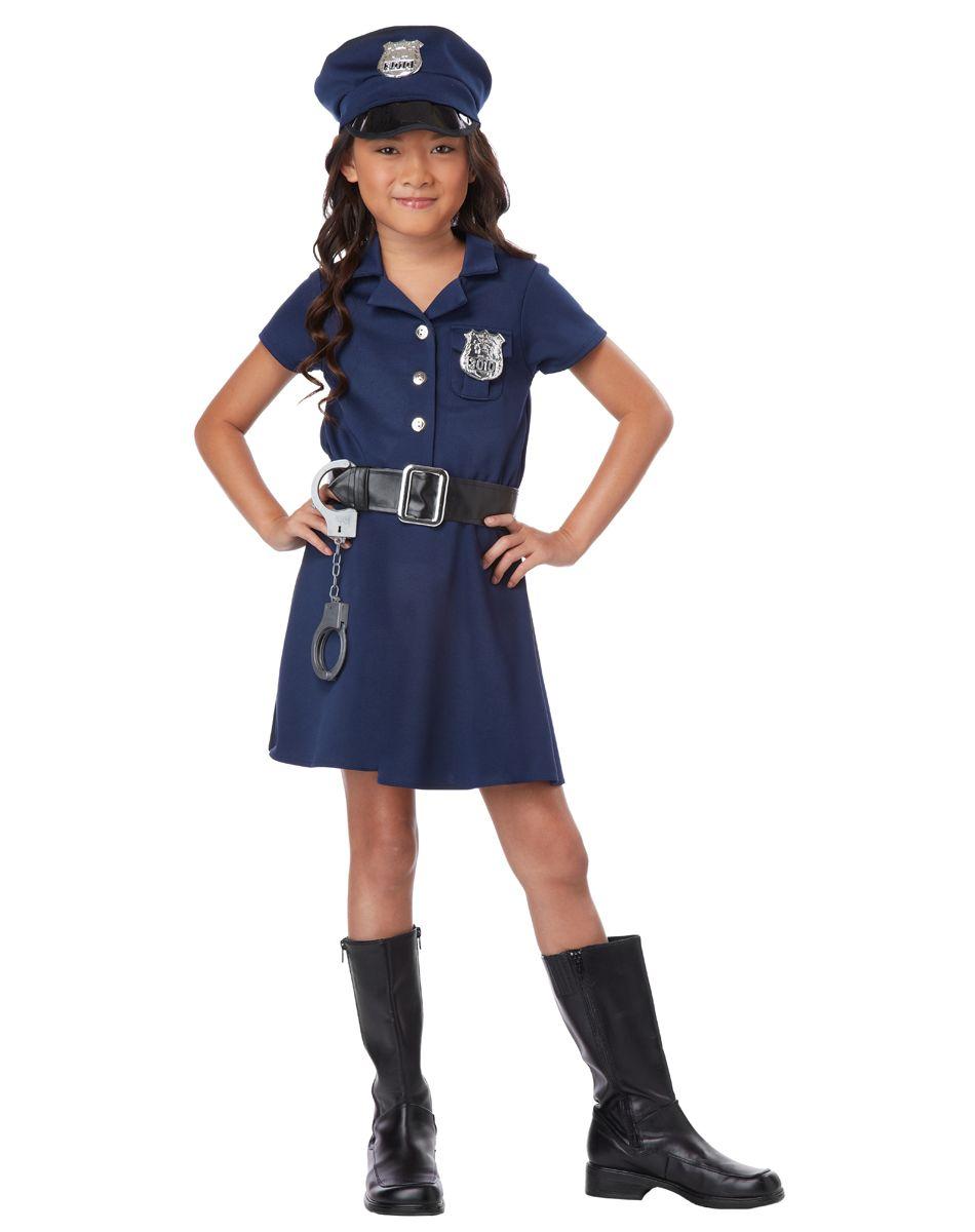 Police Officer Girls Costume   Police costume, Police ...