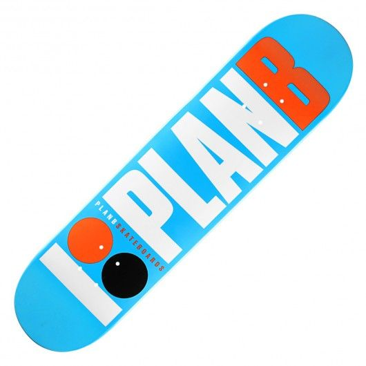 Board plan b skateboards og blue team full paint