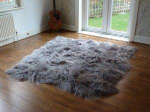 Large Grey Sheepskin Rugs Hiderugs Co Uk