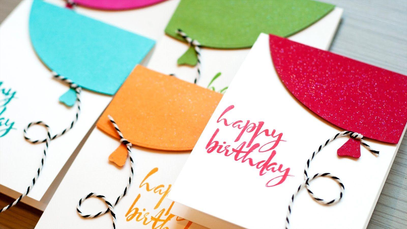 Как сделать маленькая открытка с днем рождения, для поздравления новым