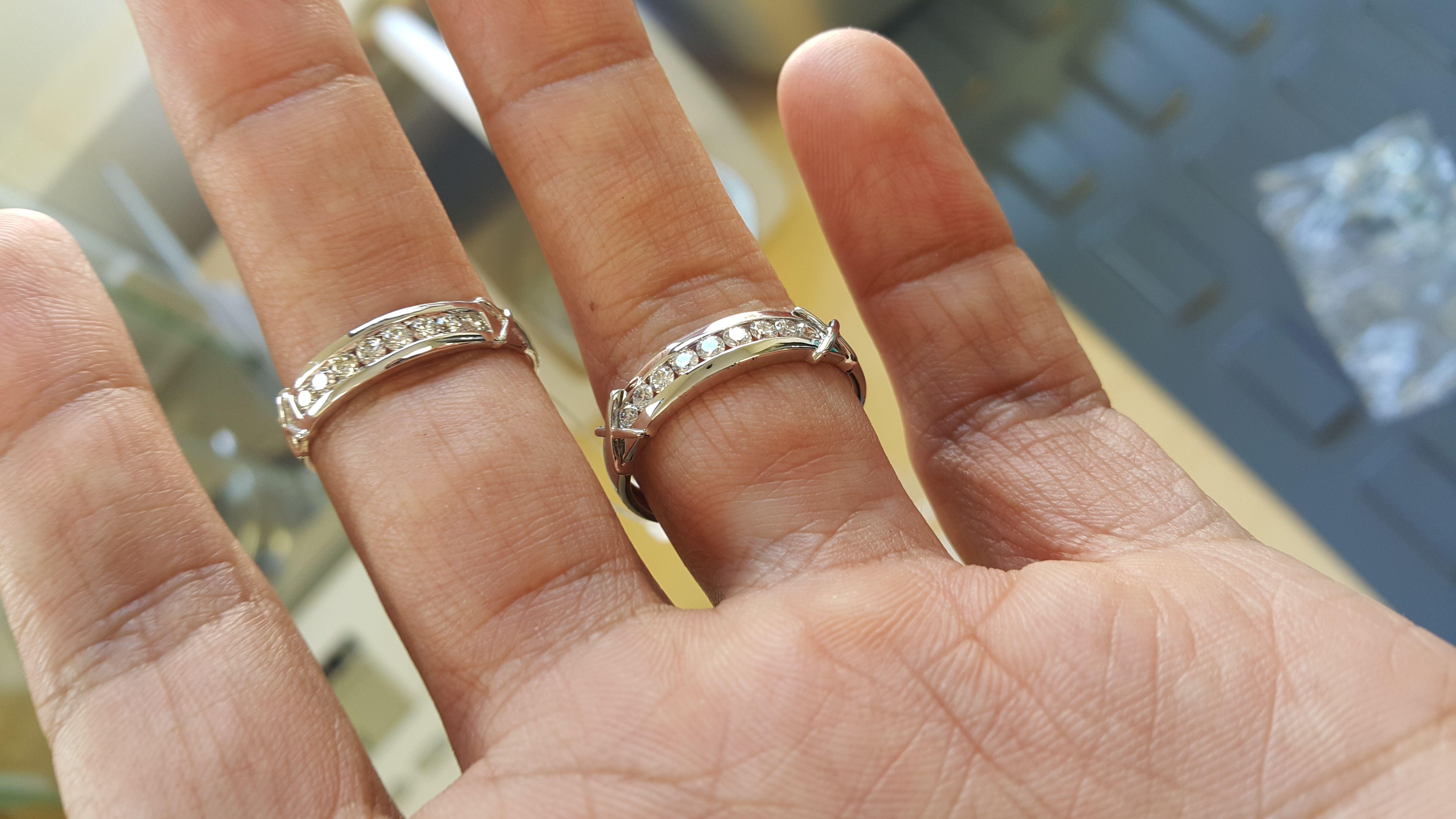 Which Hand Wedding Ring Female.1 Carat Diamond Trio Wedding Ring Set 14k White Gold Captivating