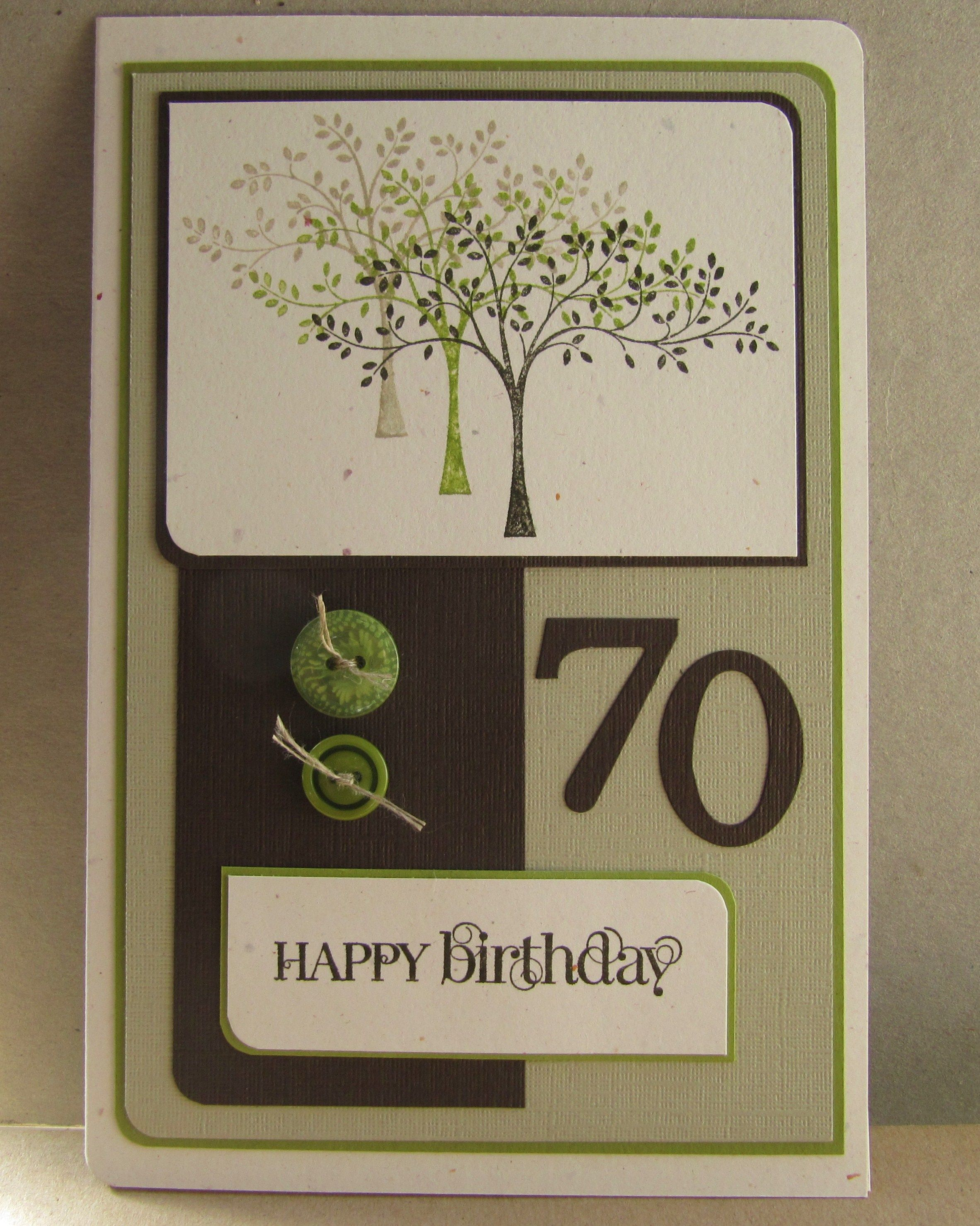 70th Birthday Card Made Using SUs Hopeful Thoughts