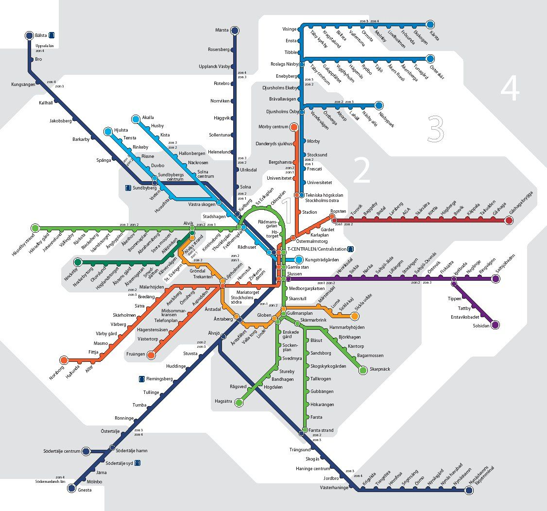 Stockholm Tunnelbana Map Pictures Metro Map Stockholm Metro