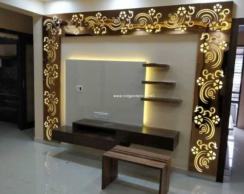Rodge Interio Residential And Commercial Interior Designer Modern Tv Wall Units House Ceiling Design Tv Wall Design