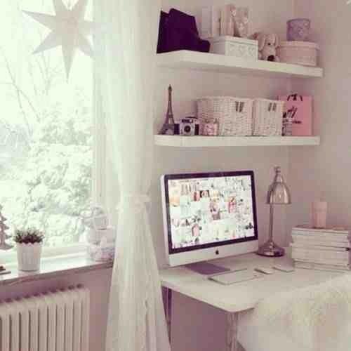 Girly Bedroom Pics: Cute Decor: Escrivaninhas Fofas (Niina Secrets)