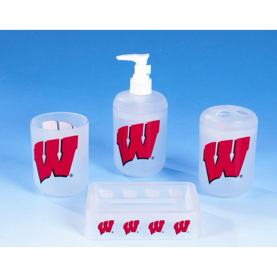 Championship Home Accessories Wisconsin Badgers 4 Piece Bath Set 8532